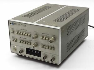 Hp Agilent 8011a 0 1hz 20mhz Dual Output Compact Pulse Generator 25ns 100ms