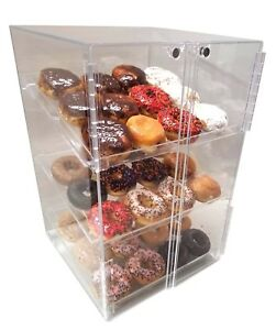 Self Serve Pastry Donut Display Cake Case 3 Tray Muffin Pastrie Bagel Cabinet