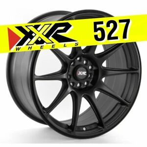 Xxr 527 18x8 75 5x100 5x114 3 20 Flat Black Wheels Set Of 4