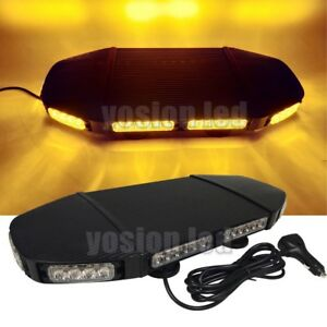 21 65 48 Led Emergency Beacon Light Bar Warning Truck Tow Roof Top Strobe Amber