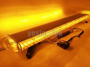 51 96 Led Emergency Beacon Light Bar Truck Tow Plow Response Roof Strobe Amber