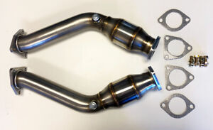 Resonated Test Pipes Decat Catless Exhaust Fits Nissan 350z Infiniti G35 Fx35