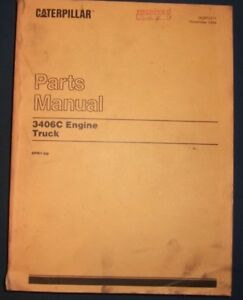 Cat Caterpillar 3406c Truck Engine Parts Manual Book S n 8pn1 up