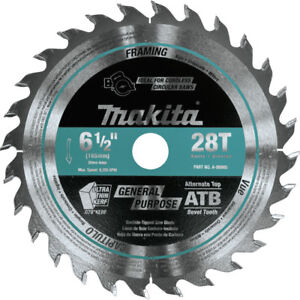 Makita 6 1 2 In 28t Carbide tipped Plunge Saw Blade A 99960 New
