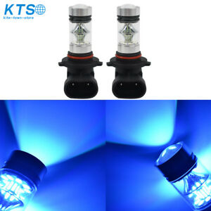 2x 9005 Hb3 9145 H10 8000k Ice Blue 100w Led Projector Fog Driving Light Bulb