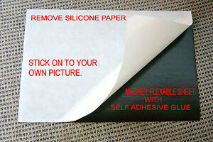 8 1 Flexible Magnet Sheet self Adhesive One Side Silicone Paper 10x15 cm 4x6
