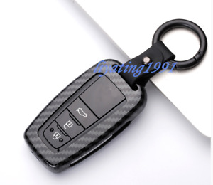 Carbon Fiber Black Remote Key Case Shell Key Cover For Toyota C hr Chr 2016 2018