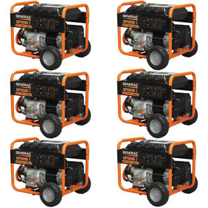 Generac Pallet Of 6 Of 5939 Gp5500 5500 Watt Portable Generator