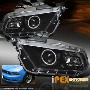 Ford Mustang Ccfl Halo W led Projector Headlights Black