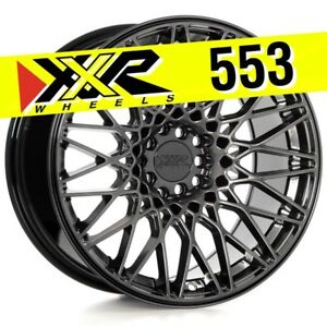 Xxr 553 17x9 25 5 100 5 114 3 36 Chromium Black Wheels Set Of 4 Deep Concave