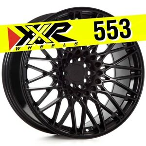 Xxr 553 18x9 75 5 100 5 114 3 36 Flat Black Wheels Set Of 4 Fits Frs Brz 86