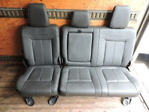 2011 2016 Ford F250 F350 F450 Super Duty Platinum Rear Seats 60 40 Split Black