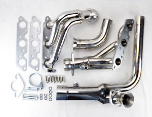 Stainless Exhaust Manifold Headers W Downpipe Fits Chevy Camaro 95 99 3 8l V6