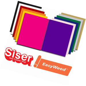 Siser Easyweed Heat Transfer Vinyl Htv For T shirts 12 X 15 Inches 12 Precut She