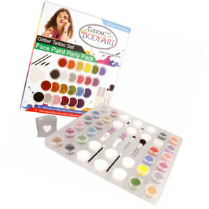 Glitter Tattoo Set By Custom Body Art 24 Color ultimate Face Painting 12 La