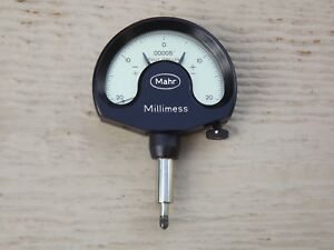 Mahr Millimess Mechanical Dial Comparator Fully Jeweled 00005 Made In Germany