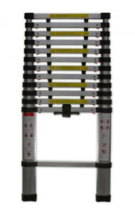 Telescopic Aluminium Ladder Lightweight Portable 12 5 Ft Extension 330 Lbs Max