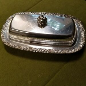 Vintage Guildcraft Silversmith Butter Dish With Glass Insert
