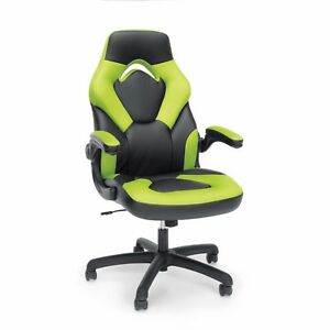 Gaming Chair Racing Style Leather Ergonomic Gamer Computer Pc Desk Video Green