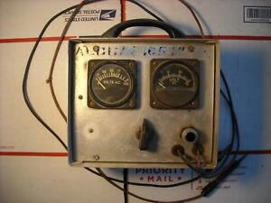 Vintage Voltmeter Ac Dc Continuity Aluminum Box Volts Electrical Meter Marshal