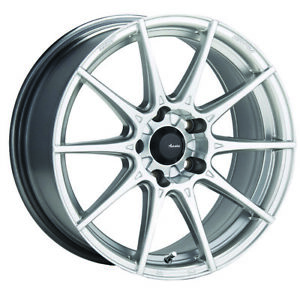 2 New 17x8 Advanti Racing 79s Storm S1 Silver Wheels Rims 45 5x120