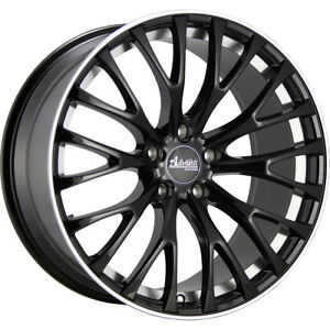 2 New 19x9 5 Advanti Racing 77b Fastoso Black Wheels Rims 35 5x112