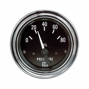 Stewart Warner Deluxe Series Electrical Oil Pressure Gauge 2 1 16 Dia 82304