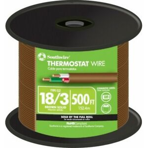 500 Ft 18 3 Brown Solid Cu Thermostat Bell Wire Indoor Outdoor Electrical Cable