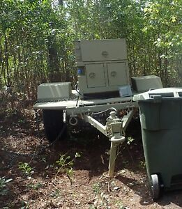 Diesel Generator Only 120 Hrs 10kw Military On Trailer 120 240 208 60hz Mep 803a