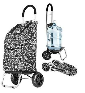 Damask Shopping Grocery Foldable Cart