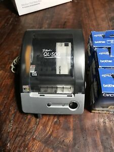 Brother P touch Ql 500 Thermal Transfer Printer 6 Boxes 120 Worth Of Free Label