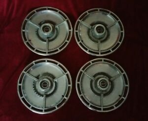 1964 Chevrolet Impala Ss Spinner Hubcaps Chevy Wheel Covers 1963 1965