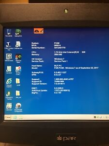 Par Everserv 6000 Touchscreen Pos Monitor Terminal 1 73ghz Intel Celeron