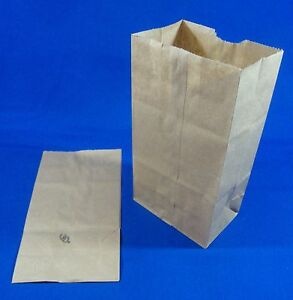 2 Paper Brown Kraft Natural Sack Grocery Merchandise Retail Bags