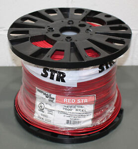 2500 Republic Wire 14 Awg Stranded Copper Red Spool 600v Mtw thhn Machine Tool