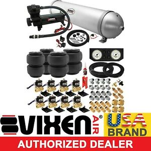 5 Gal Aluminum Air Tank 200psi Compressor bags valves Full Suspension System kit