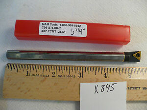 1 New 3 8 Carbide Boring Bar C06 stlcr 2 Takes Tcmt 21 5 Carbide Insert X845
