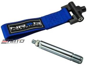 Nrg 5000lbs Screw On Front Tow Hook Strap Adapter For Genesis Coupe 09 13 Blue