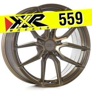 Xxr 559 18x8 5 5 114 3 20 Bronze Wheels set Of 4 Fits Mitsubishi Lancer Evo
