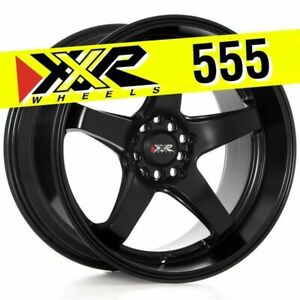 Xxr 555 18x10 5x100 5x114 3 25 Flat Black Wheels Set Of 4