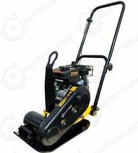 196cc Walk Behind Vibratory Plate Compactor Rammer Soil Dirt Gas Power Soil Dirt