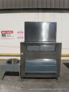 Manitowoc Sy1894n 1800lbs Ice Maker With Bin Half Cube Style Remote
