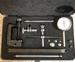 Starrett No 196 Universal Dial Test Indicator Back Plunger With Case Nice