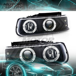 For 2001 2002 Chevrolet Silverado 1500 Hd Halo Projector Headlight
