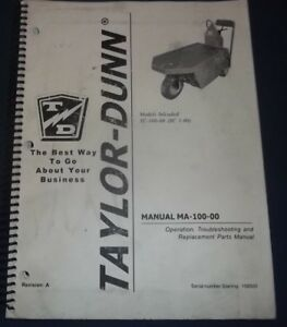 Taylor Dunn Sc 100 Stock Chaser Parts Operation Troubleshooting Manual Book