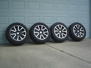 Used Set Of 4 2017 Gmc Canyon 20 Oem Alloy Wheels And Bridgestone Dueler Tires
