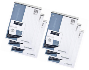 Mead Cambridge Notebook Wirebound Notepad College Ruled Stiff back 8 5 X 11 I