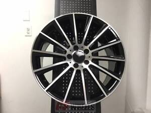 18 Multispoke Amg Black Rims Wheels Fits Mercedes Benz C Class C300 C250 C350