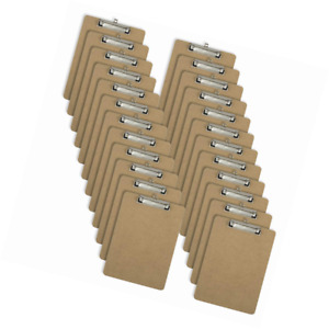 Officemate Letter Size Wood Clipboards Low Profile Clip 24 Pack Clipboard Bro