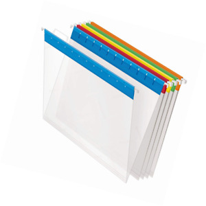 Pendaflex 55708 Poly Hanging File Folders 1 5 Tab Letter Assorted Colors box